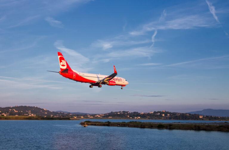 Airplane Arrival Corfu